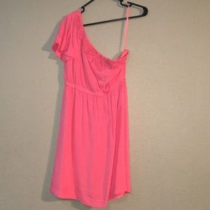 Pink Gianni Bini Size XS One Shoulder Dress